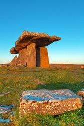 old Polnabrone Dolmen in Burren, Co. Clare - Ireland