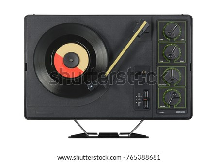 Old portable record player #765388681