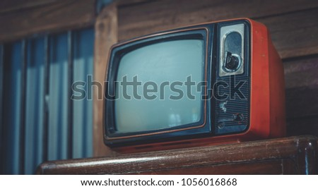 Old Portable Television  #1056016868