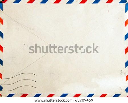 Old post envelope, background