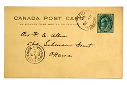 Old post office issued postcard dated 1900.