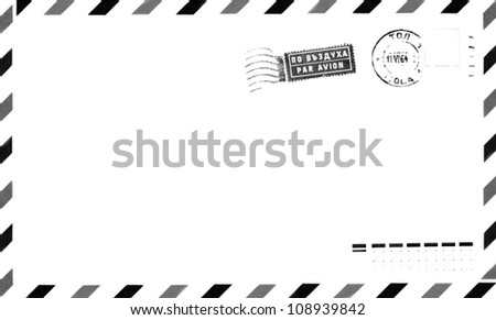 Old Postage Air Mail Envelope Background