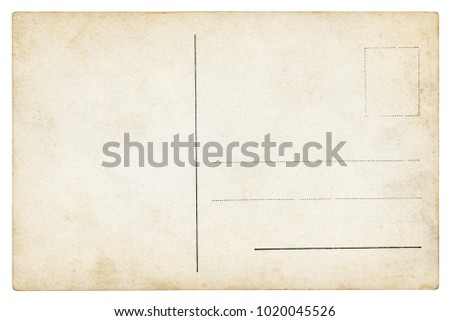 Old Postcard - isolated (clipping path included) #1020045526
