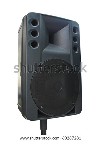old powerful concerto audio speaker isolated on white background