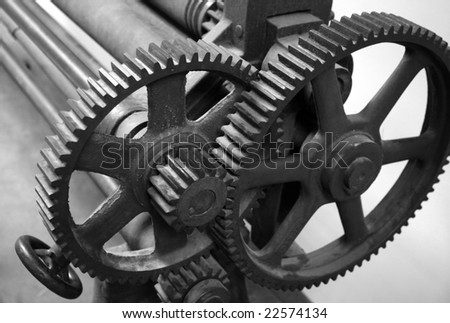 Vintage-printing-press-machine Images and Stock Photos