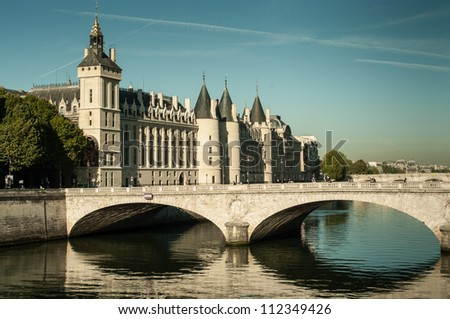 Old prison (conciergerie) on the island in the center of Paris