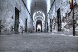 Old prison corridor
