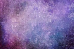 Old purple scraped wall grungy background or texture