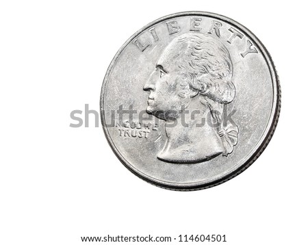 Old Quarter Dollar Coins http://www.shutterstock.com/pic-114604501/stock-photo-old-quarter-dollar-coin-with-washington-portrait-isolated-on-white-background.html
