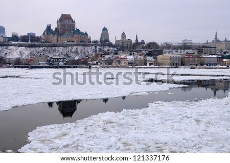 Old Quebec in winter, Canada