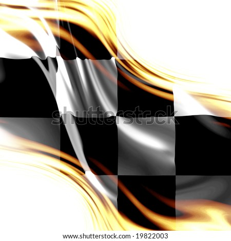 Auto Racing Subscription on Old Racing Flag With Some Folds In It Stock Photo 19822003