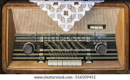 Old radio device Stok fotoğraf ©