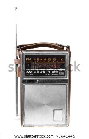 Old radio isolated on white backround