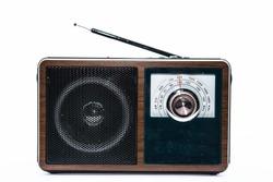 old radio on white backgrounds