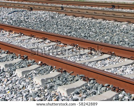old railroad. old railroad tracks. fast railway tracks.