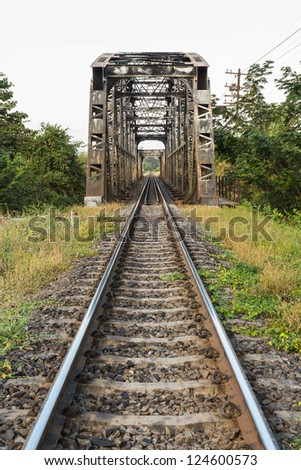 Old railway bridge in Si Sa Ket, Thailand