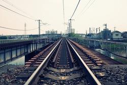 Old railway in Okayama, Japan