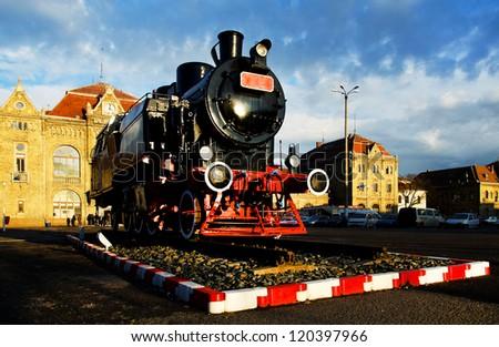Old railway station of Arad, Romania, Europe - stock photo