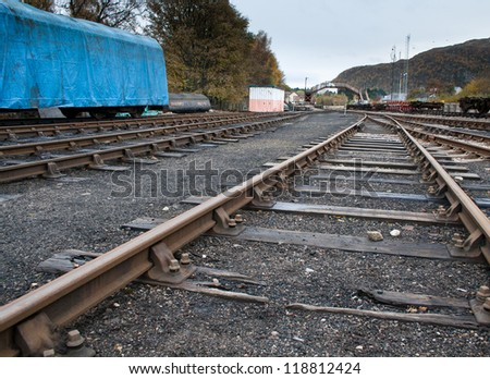 Old railway yard - stock photo