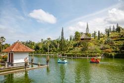 Old raja's palace Taman Ujung Sukasada (Taman Ujung Water Palace), Karangasem, Bali Island, Indonesia