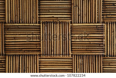old rattan weaved into a pattern