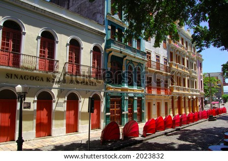 Old Recife, fa�cade of the historical center