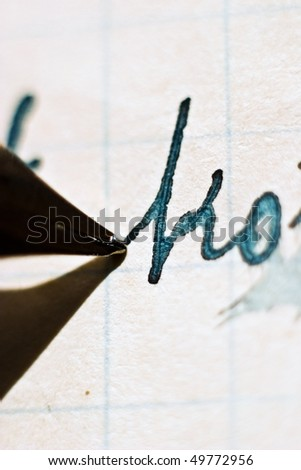old recipe handwriting detail, vintage letter detail