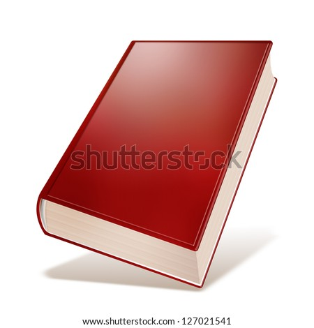 Old red book with blank cover