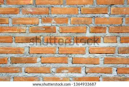 old red brick wall. grunge texture background. rustic vintage brickwork backdrop.