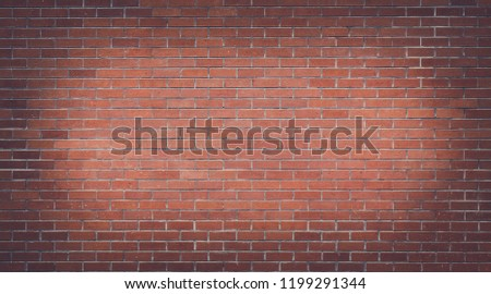 Old red brick wall, Vintage brick background.