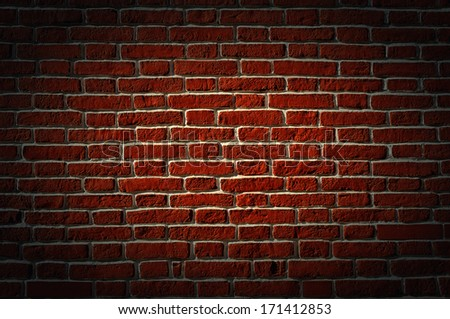 Old red bricks wall grunge background