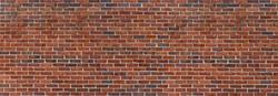Old Red ,Brown, Dark Brown Brick Wall with Light Mortar