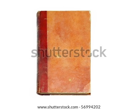 Old red cover book isolated over white (1885. year)