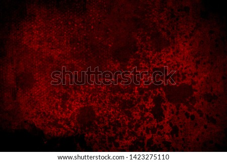 Old red scratched wall, grungy background or texture #1423275110