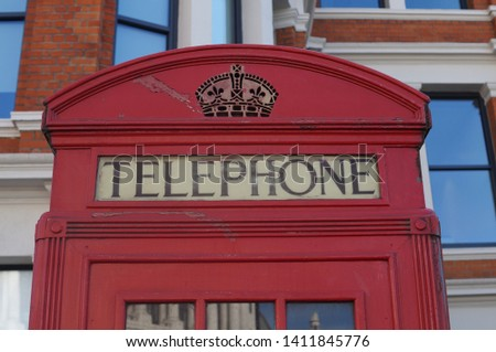Old Red telephony box in London Blackfriars