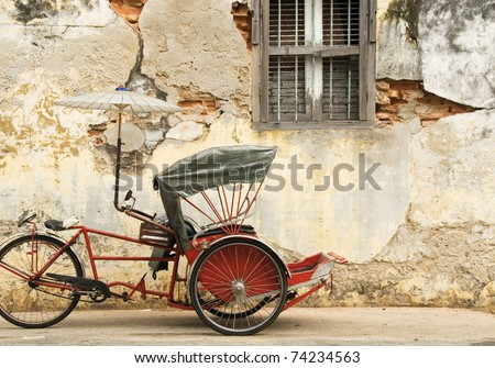 Old Red Trishaw, George Town, Penang