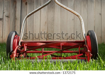 Old reel lawnmower