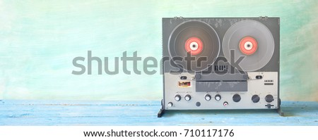 old reel to reel tape recorder, good copy space  #710117176
