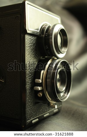 old reflex camera 120 format film