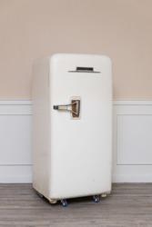 old refrigerator in cozy room
