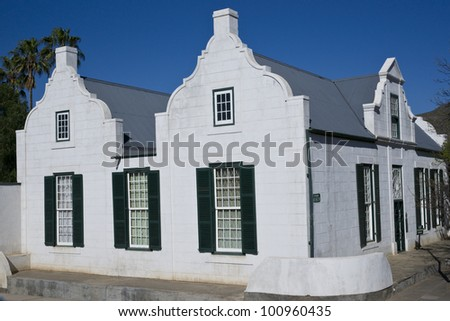 Old Residency House in Graaff-Reinet, Eastern Cape, South Africa. Historic building, built early 19th century in classical Cape style. Now a museum.