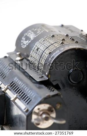 old retro adding mechanical machine