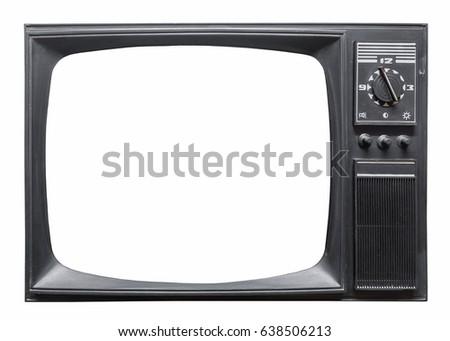 Old retro tv set