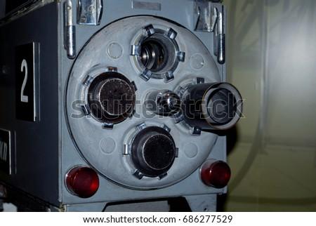 Old, Retro TV Studio Cameras #686277529