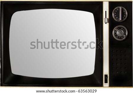 old retro tv with screen blank