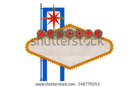 old retro welcome sign
