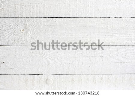 Old retro white painted wooden planks background