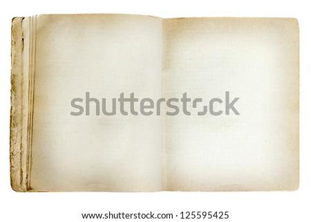 old revealed notebook isolated on white background