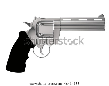 old revolver - isolated 3d render on white