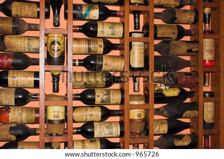 Old Rioja Wine bottles